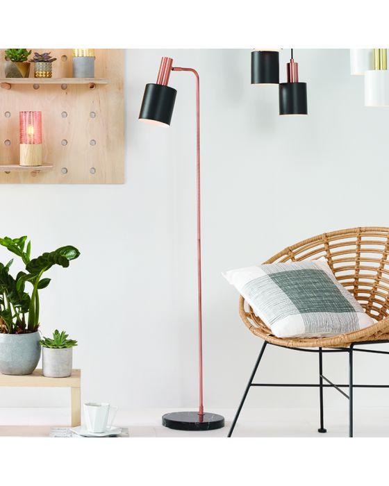 Esme Black and Copper Floor Lamp