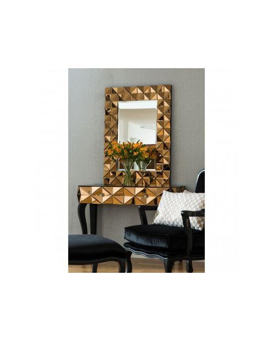 London Smoked Copper Glass Mirror