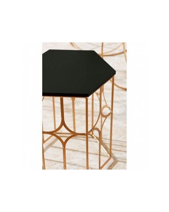 Alexa Side Tables in Rose Gold