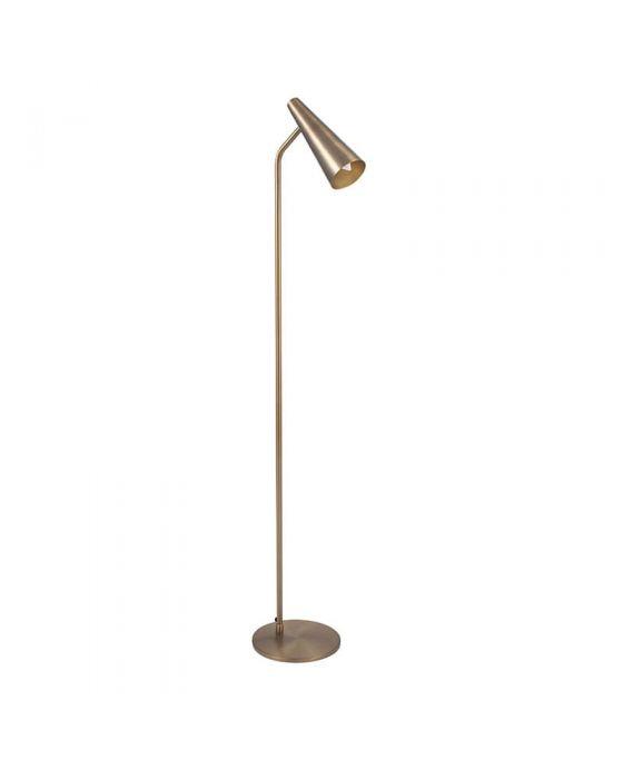 Antique Brass Conical Head Task Floor Lamp