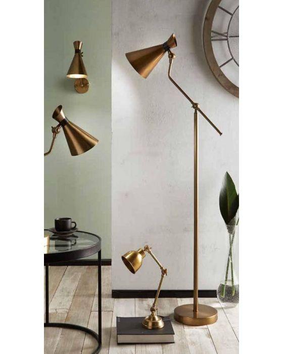 Antique Brass Metal Conical Wall Light