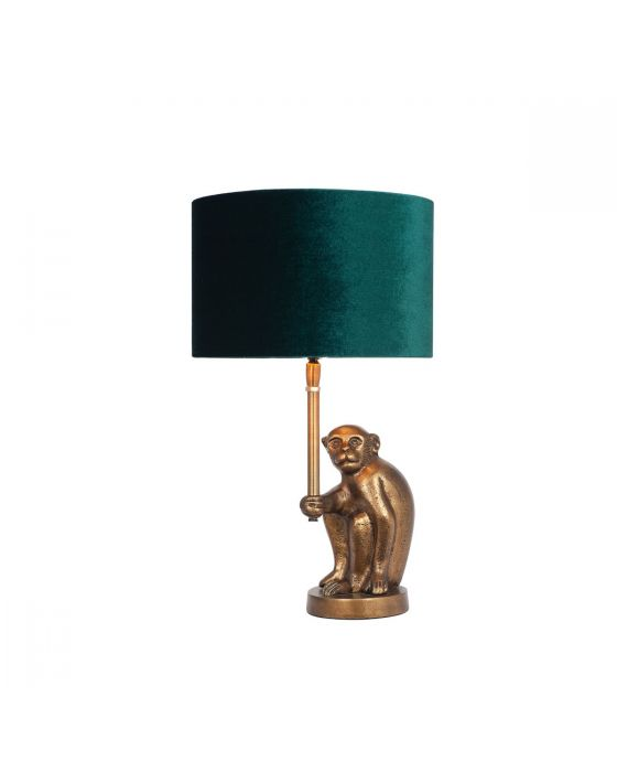 Antique Brass Metal Monkey Table Lamp - Base Only
