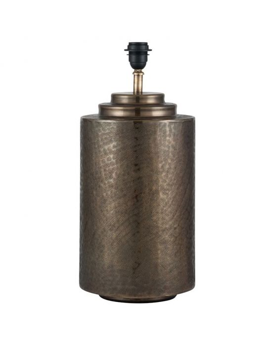 Antique Brass Metal Pot Table Lamp - Base Only