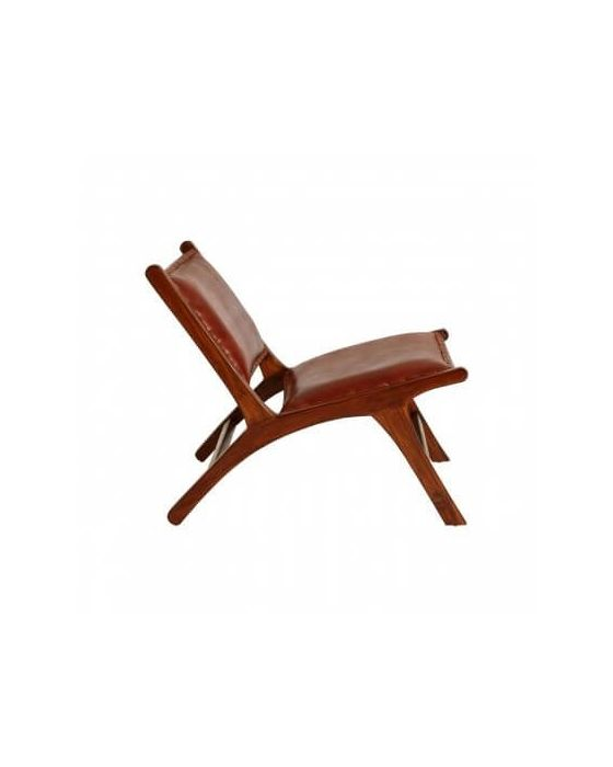 Antique Brown Angled Lounger Chair
