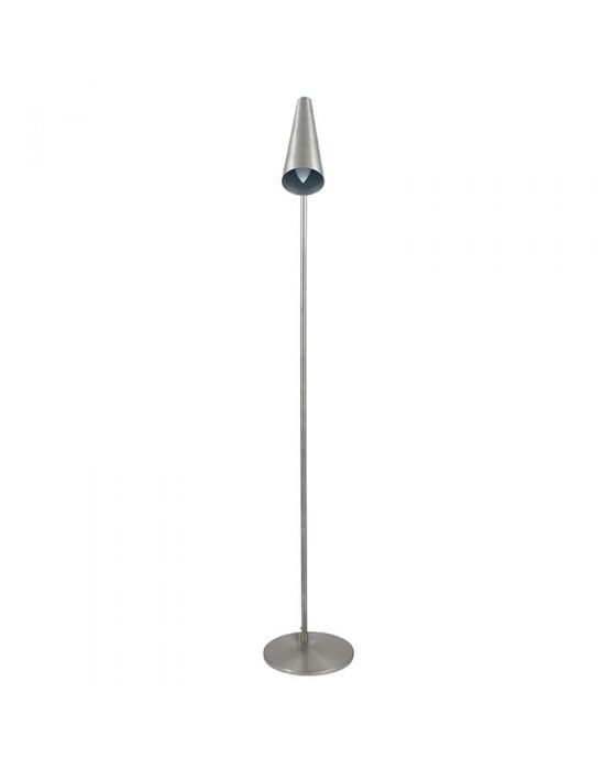 Antique Silver Conical Task Floor Lamp