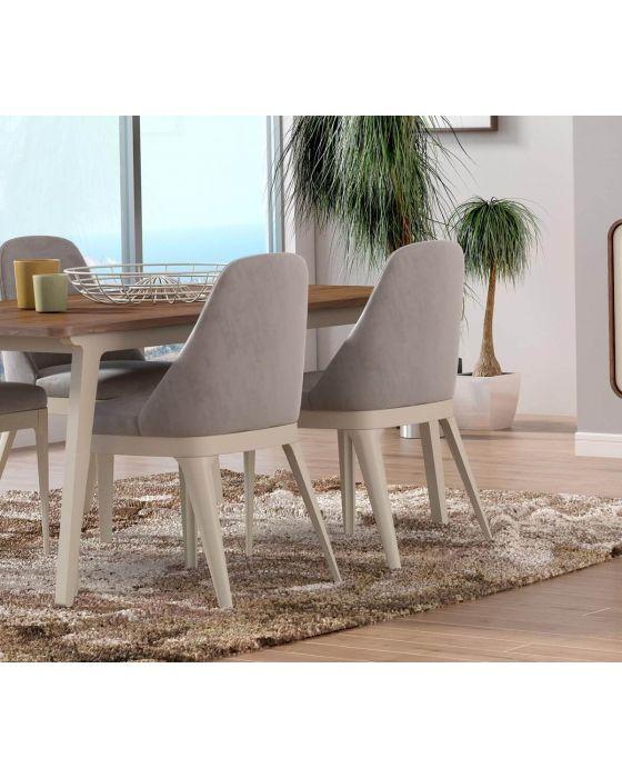 Arcus Walnut and Warm Tea Dining Chair