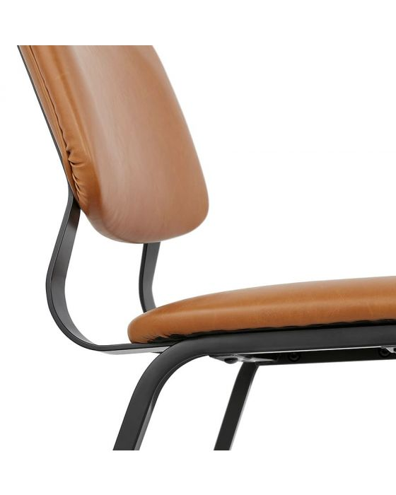 Arendt Tan and Black High Back Chair