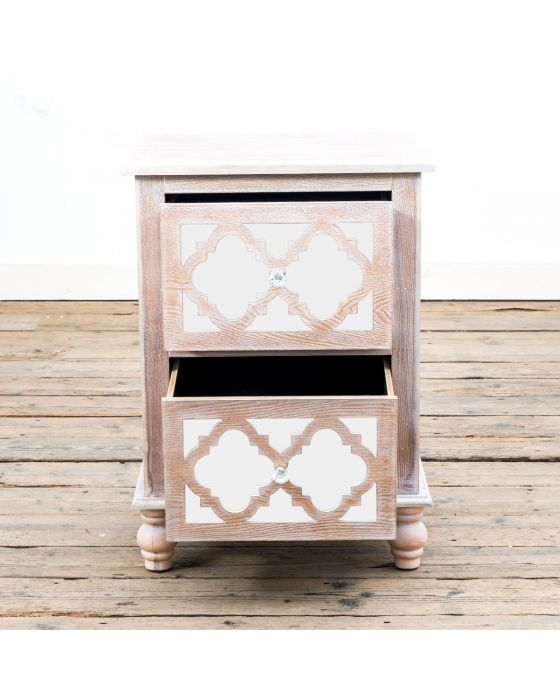 Azur Mirrored Two Drawer Side Cabinet