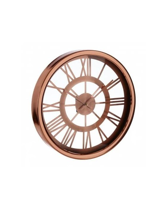 Baily Skeleton Copper Wall Clock