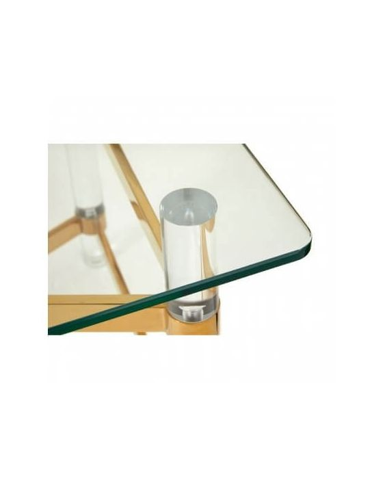 Bianco Glass Top Coffee Table