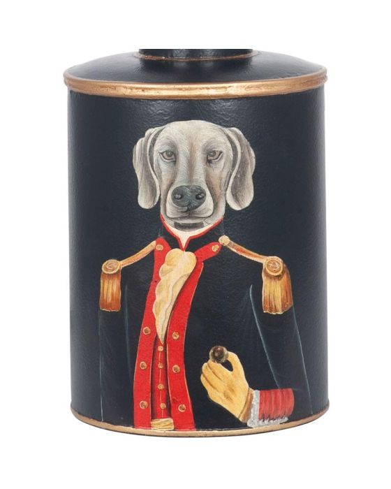Black Hand Painted Weimeraner Dog Table Lamp - Base Only