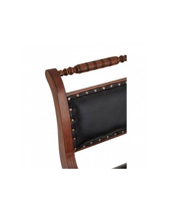 Black Leather Swivel Chair