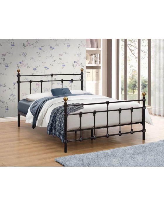 Titan Black Or Cream Metal Single & Double Bed Frames
