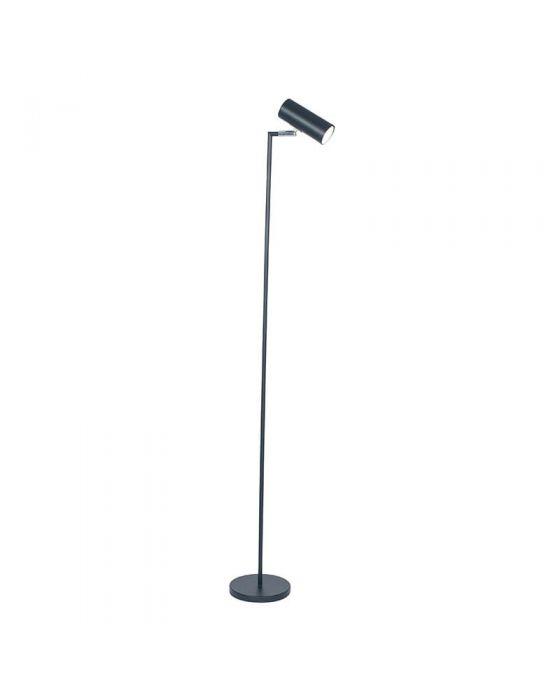 Black Metal Spotlight Task Floor Lamp