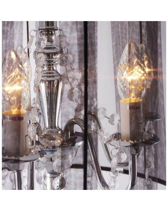 Black Traditional Jewel Floor Lamp