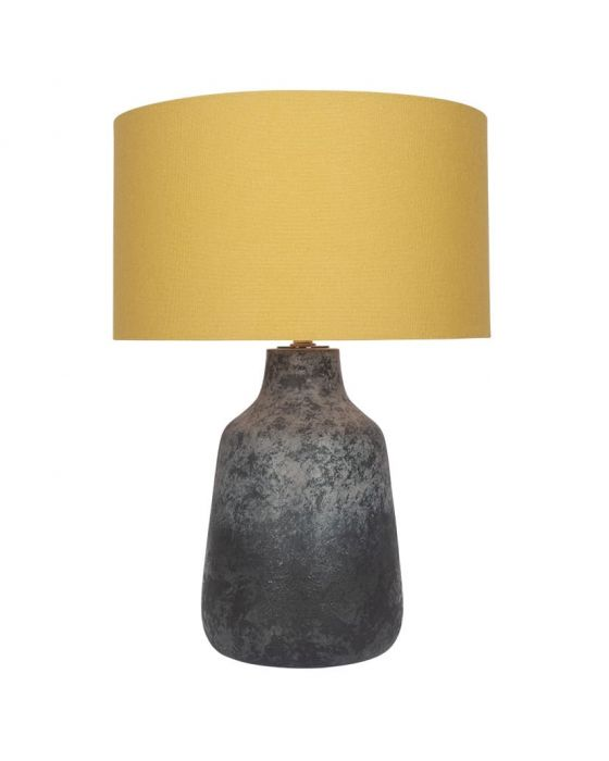 Bottle Shaped Concrete Effect Grey Table Lamp - Base Only
