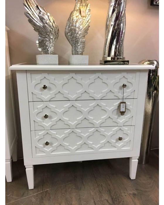 Costa White Chest of Drawers