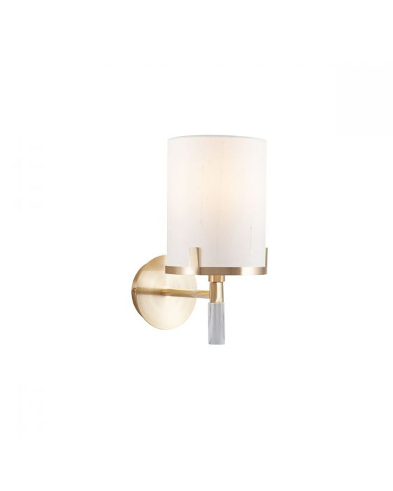 Champagne Gold Metal and Marble Effect Wall Light