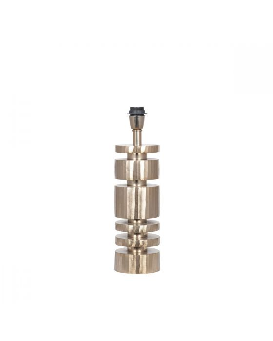 Champagne Gold Metal Stacked Cylinder Table Lamp - Base Only
