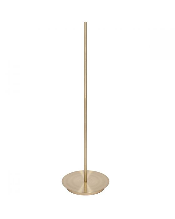 Champagne Gold Metal Stem and Marble Effect Floor Lamp