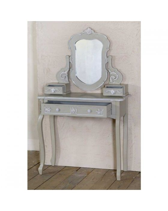 Charmount Grey Console Table With Mirror