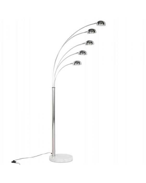 Chrome 5 Light Spotlight Floor Lamp