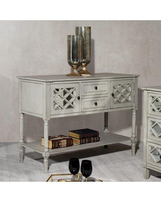 Clara Grey Mirrored Dressing Table