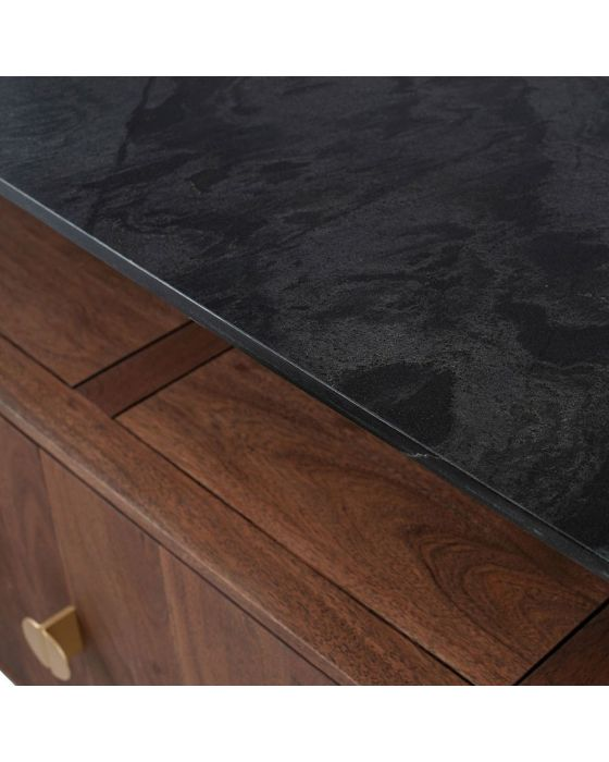 Claude Acacia and Black Marble Sideboard