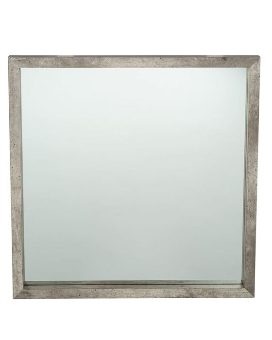 Concrete Effect Square Mirror