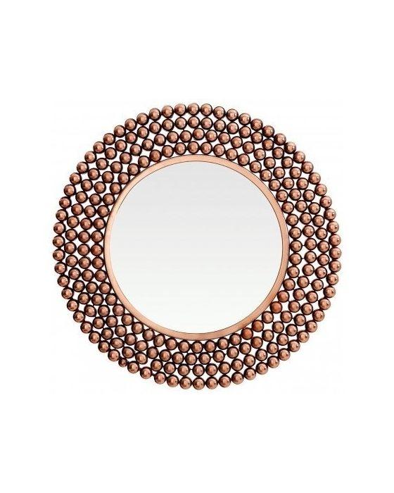 Copper Beaded Wall Mirror
