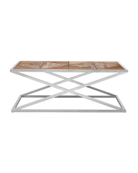 Criss Cross Industrial Chic Coffee Table