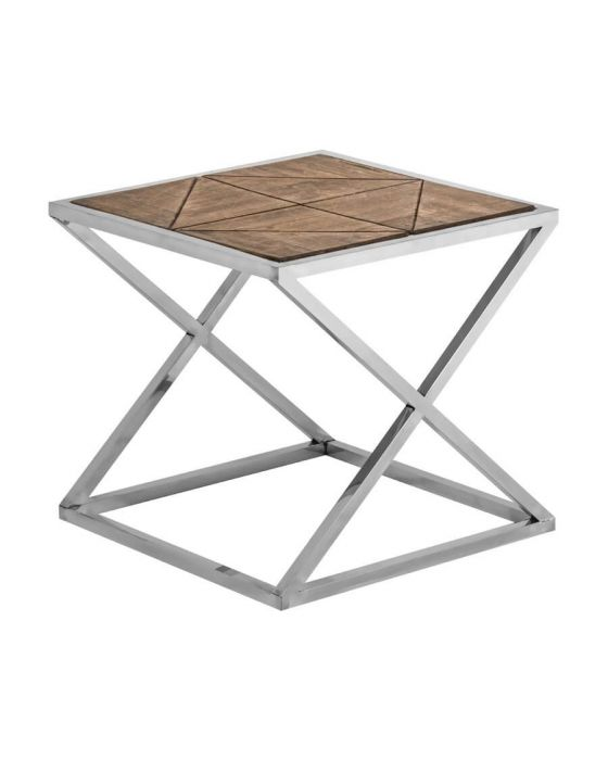 Criss Cross Industrial Chic Side Table