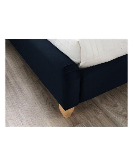 Crompton Deep Blue Fabric Bed Frames