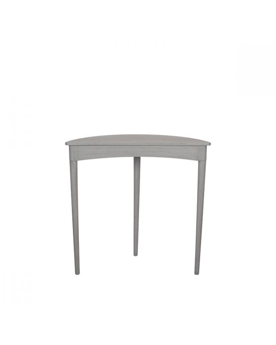 Dark Grey Pine Wood & Half Moon Console Table