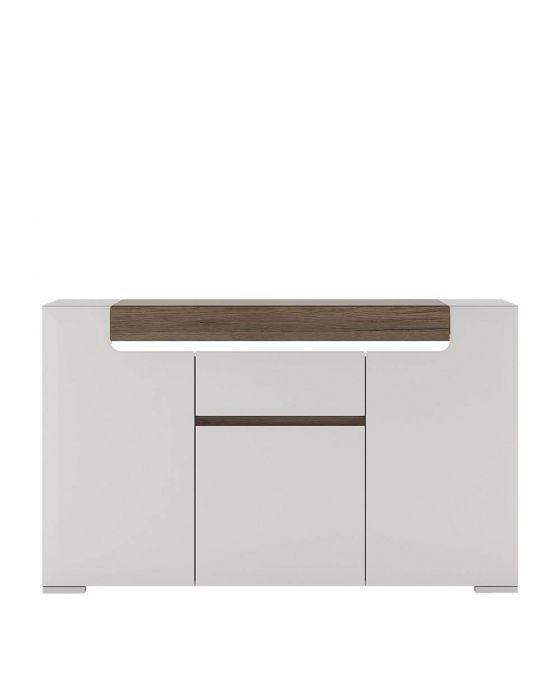 Designer Style White 3 Door Sideboard