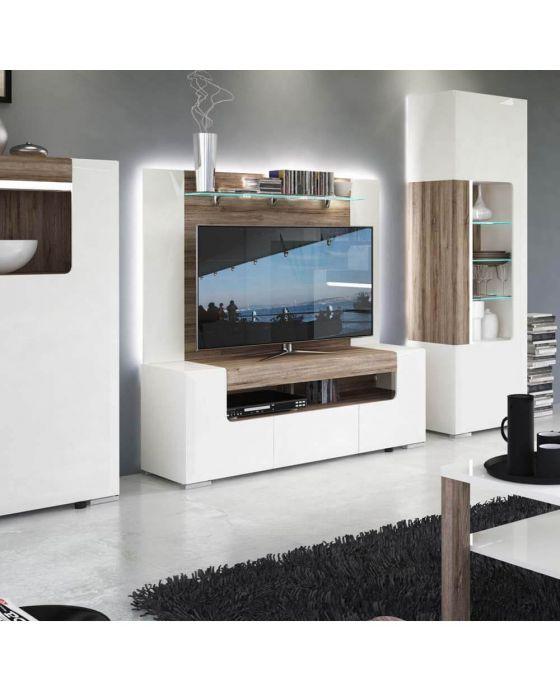 Designer Style White TV Unit