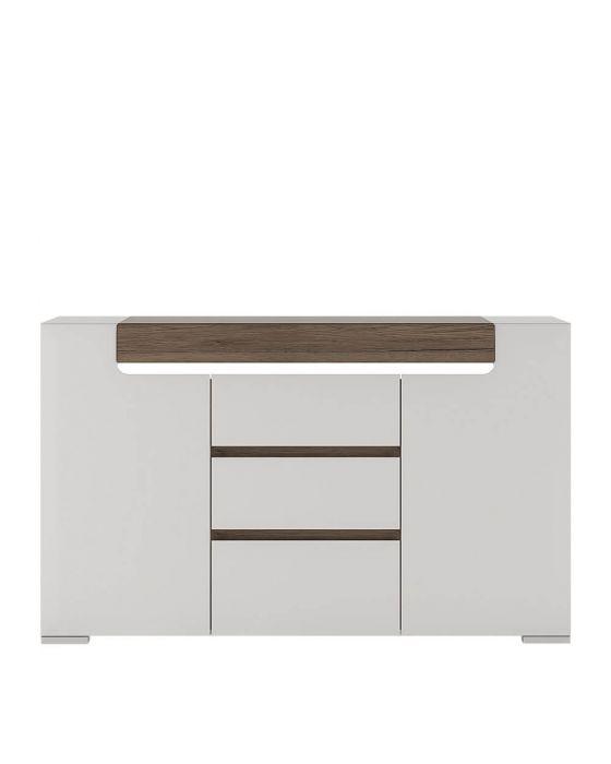 Designer Style White 2 Door Sideboard
