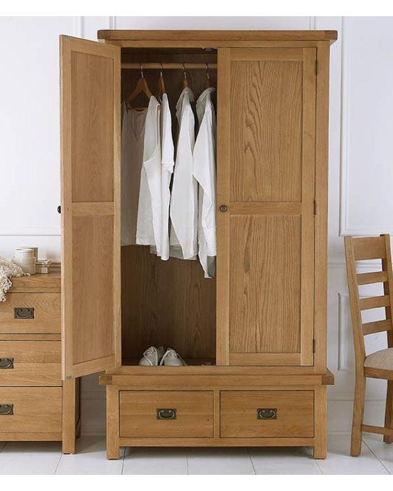 Eden Oak 2 Door 2 Drawer Wardrobe