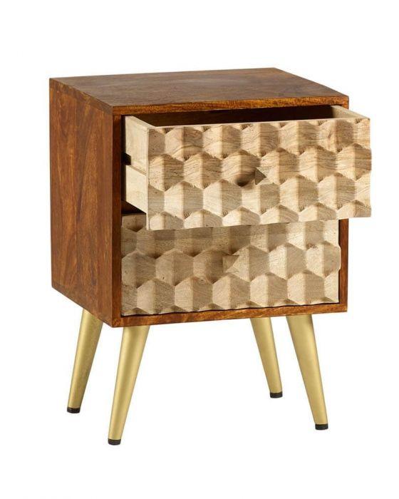 Edison 2 Drawer Side Table