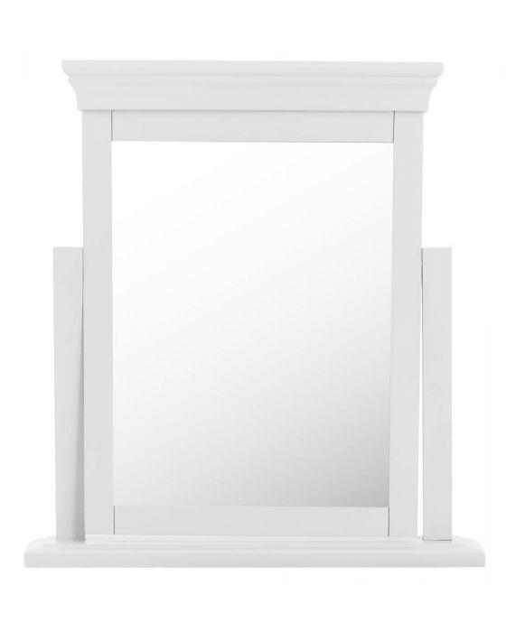 Edwina Pine White Dresser Mirror