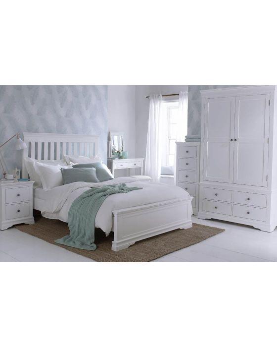 Edwina Pine White 2 Door 4 Drawer Wardrobe