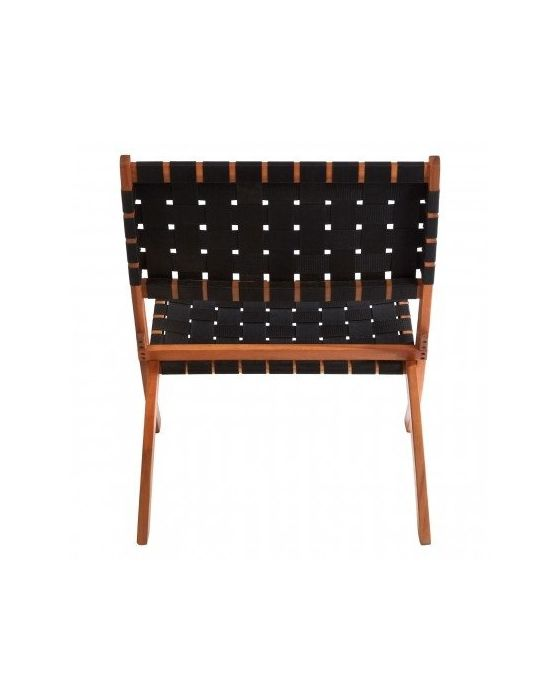 Emily Black Woven Angled Relaxer Chair