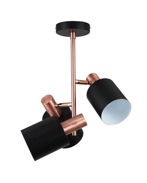 Esme Black & Antique Copper 3 Light Pendant