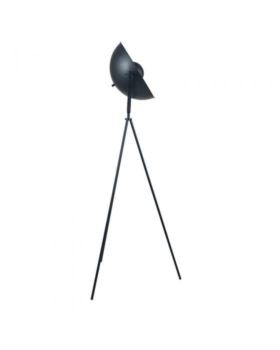 Film Style Black & Copper Diffused Tripod Floor Lamp
