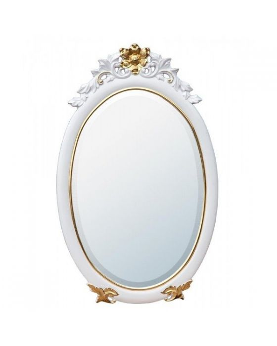 French White and Gold Wall Mirror