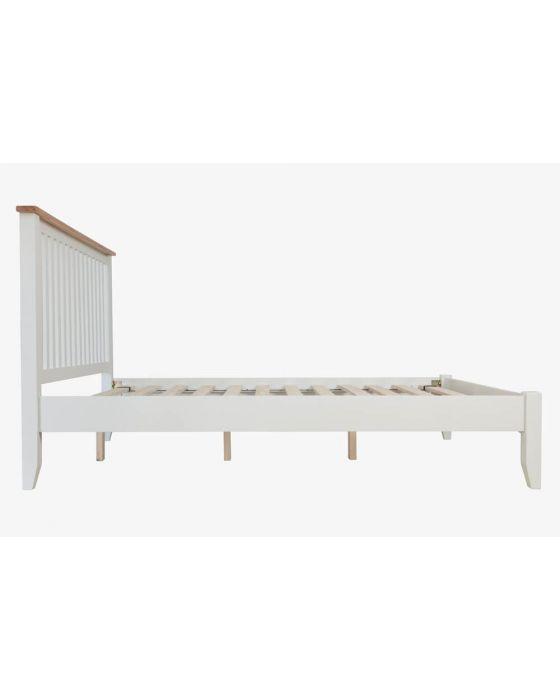 Gaetan Oak White Bed Frame