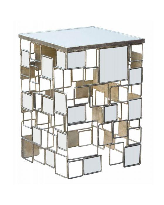 Gin Shu Parisienne Mirrored Metal Table