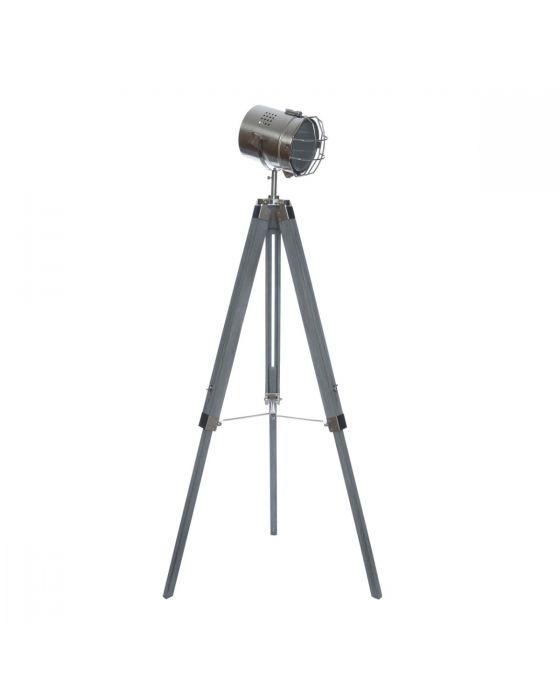 Grey Lighthouse Style Tripod Floor Lamp