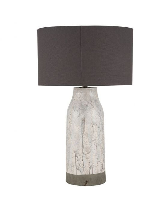 Grey Marble Effect Stoneware Table Lamp - Base Only
