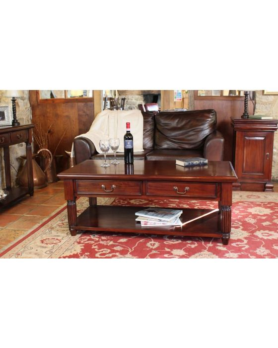 Hand Crafted Coffee Table With Drawers